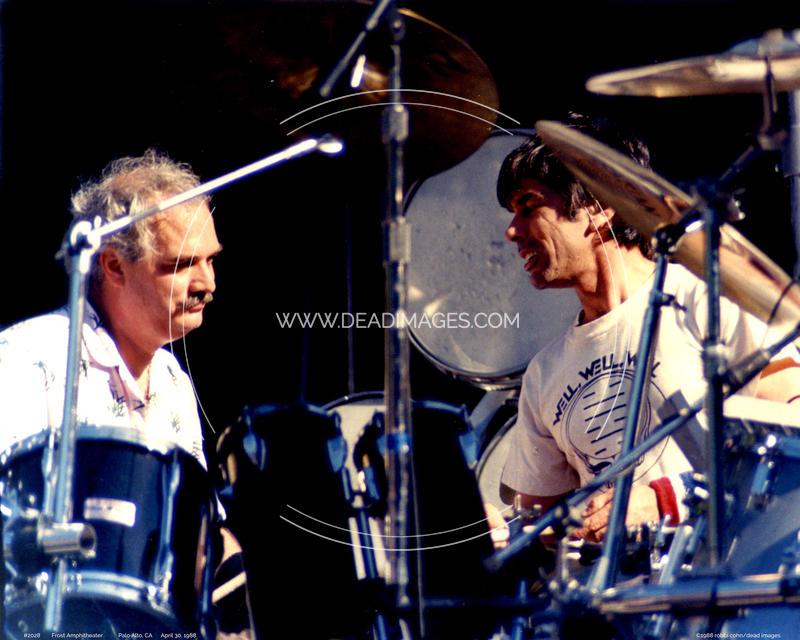 Bill Kreutzman, Mickey Hart - April 30, 1988