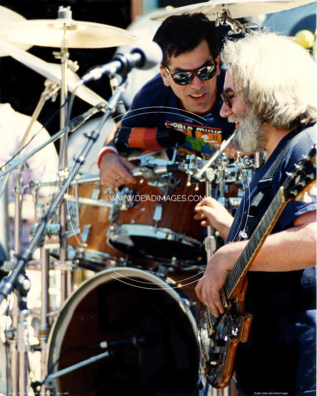 Jerry Garcia, Mickey Hart - May 3, 1987
